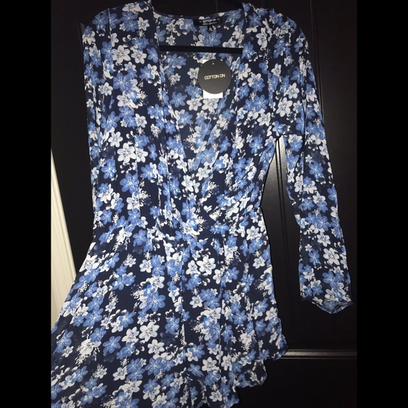 Cotton On Pants - Blue Floral Romper by Cotton On